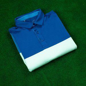 Under Armour Heatgear Blue/Cream Block Polo